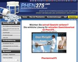 Phen375 sollte nur von der offiziellen Phen375 Webseite