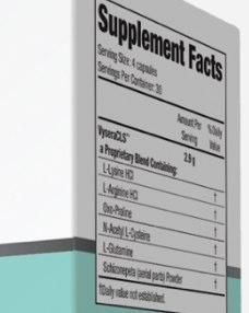 Vysera Ingredients from DietPillbuyer.com