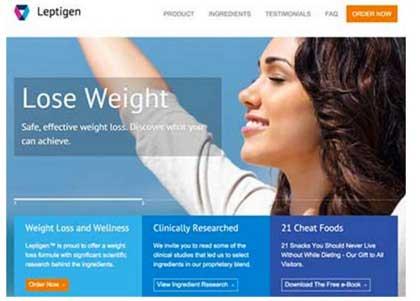 Leptigen-Website