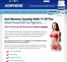 Adiphene webseite